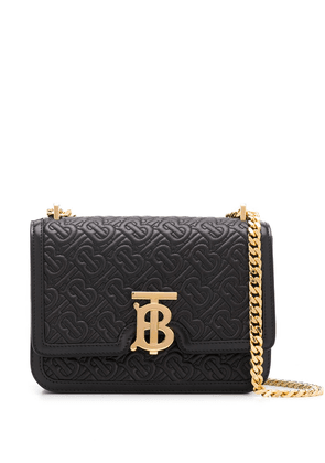Burberry small TB quilted monogram bag - Black