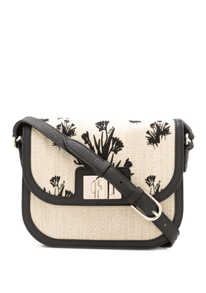 Furla 1927 floral embroidered crossbody bag - NEUTRALS