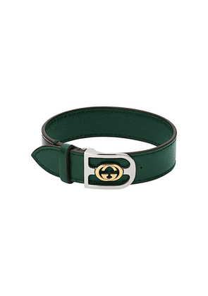Gucci interlocking G buckle choker - Green