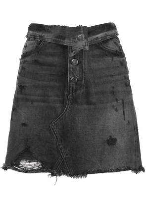 AMIRI fold over denim skirt - Black