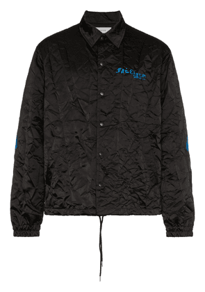 Facetasm logo creased jacket - Black