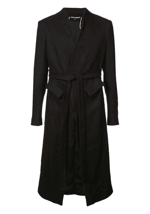 Cedric Jacquemyn belted mid-length coat - Black