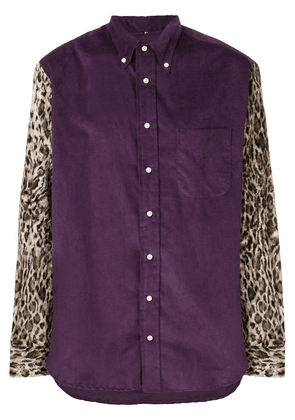 Gitman Vintage leopard sleeve shirt - PURPLE