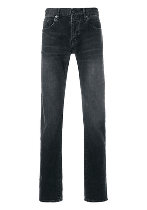 Saint Laurent stonewashed straight-leg jeans - Black