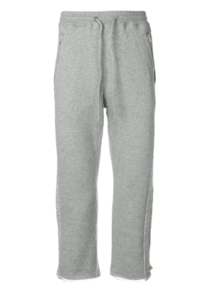Facetasm cropped logo track pants - Grey
