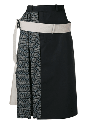 Maison Margiela patterned A-line skirt - Blue