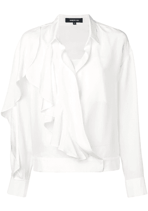 Barbara Bui ruffle long-sleeve blouse - White
