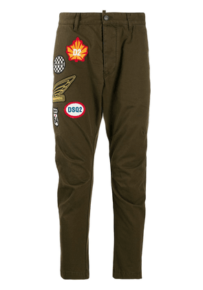 Dsquared2 embroidered patch trousers - Green