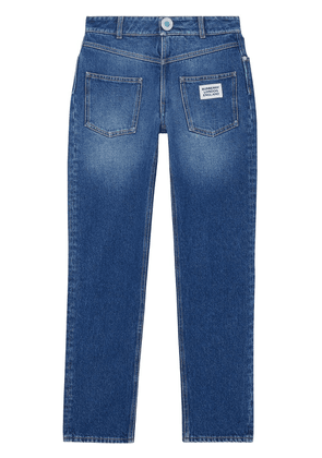 Burberry straight-fit logo detail jeans - Blue