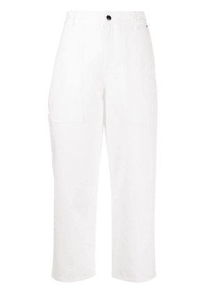 The Row wide-leg cropped trousers - White