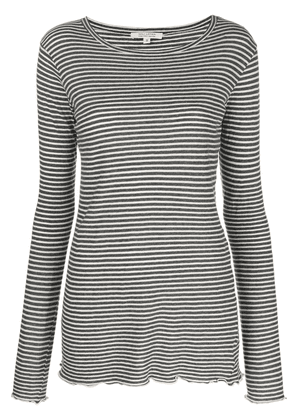 Nili Lotan striped print top - Grey