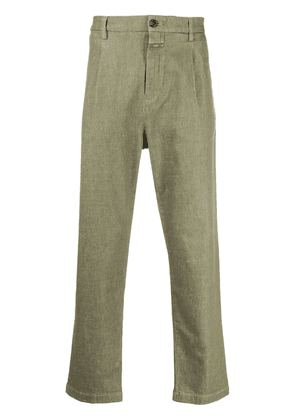 Closed straight-leg tailored trousers - Green
