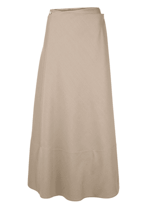 The Row Ava wrap skirt - Brown