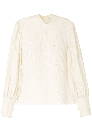 Alice McCall Angels mock neck blouse - NEUTRALS