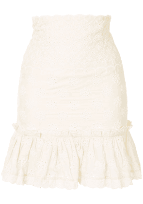 Alice McCall Angels embroidered skirt - Yellow
