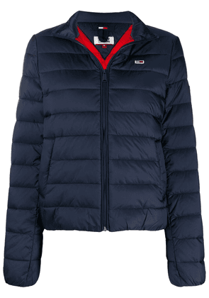 Tommy Jeans quilted funnel-neck jacket - Blue