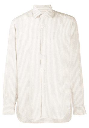 Barba striped long sleeved shirt - NEUTRALS