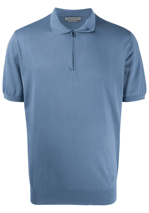 Corneliani zipped polo shirt - Blue