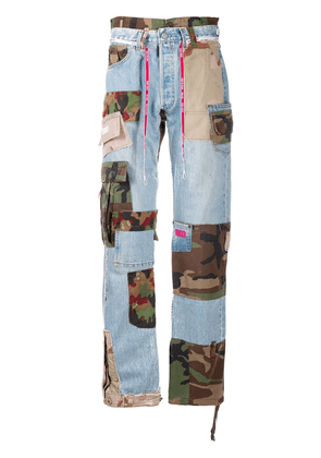 Gcds Cargo Recycle straight leg jeans - Blue