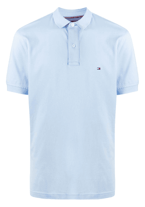Tommy Hilfiger embroidered logo polo shirt - Blue