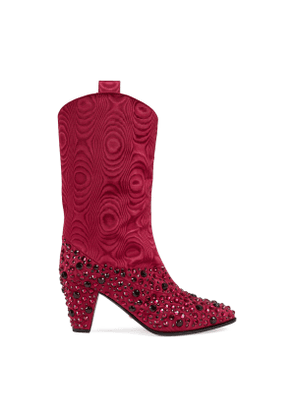 Women's boot with crystals