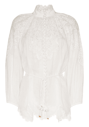 Zimmermann broderie anglaise blouse - White