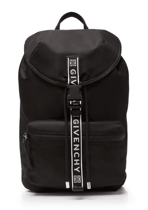 Givenchy Intarsia-Trimmed Leather Backpack