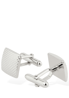 Checked Embossed Square Cufflinks