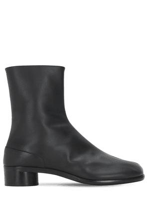 30mm Tabi Leather Ankle Boots