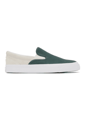 Converse Green Suede One Star CC Slip-On Pro Sneakers
