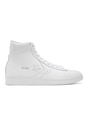 Converse White Leather Pro Mid Sneakers