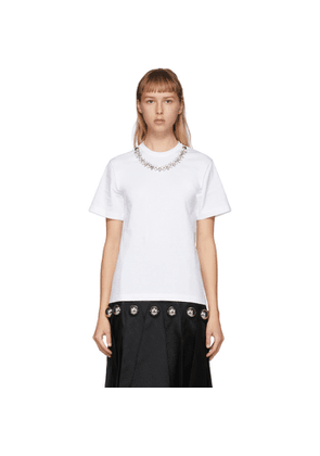 Christopher Kane White Crystal Necklace T-Shirt
