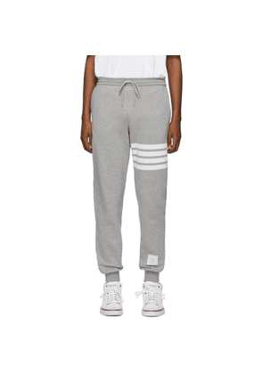 Thom Browne Grey Classic 4-Bar Lounge Pants