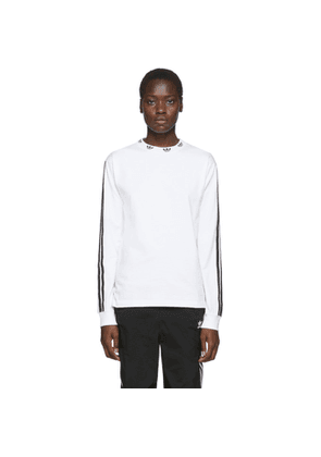 adidas Originals White Trefoil Ribbed Long Sleeve T-Shirt