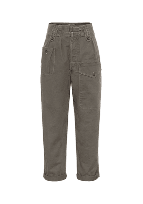 High-rise cotton-blend cargo pants