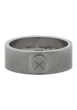 Maison Margiela Silver Screw Detail Ring