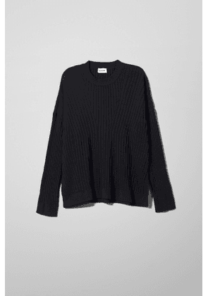 Ron Directional Sweater - Black