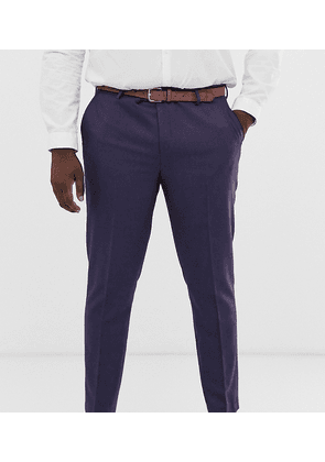 ASOS DESIGN Plus wedding skinny suit trousers in berry twill-Red