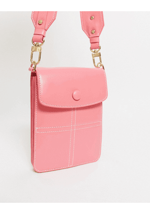 Topshop micro across body back in candy pink