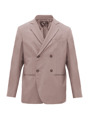 Edward Crutchley - Double-breasted Wool-twill Jacket - Mens - Purple