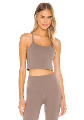 Beyond Yoga Slim Racerback Cropped Tank in Brown. Size S,M,L.