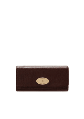Mulberry Continental Plaque Wallet in Oxblood Classic Grain
