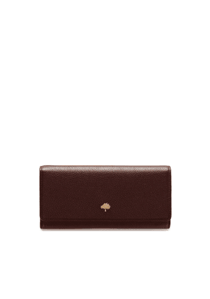 Mulberry Tree Continental Wallet in Oxblood Classic Grain