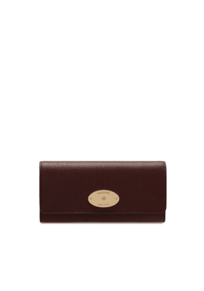 Mulberry Continental Wallet in Oxblood Small Classic Grain