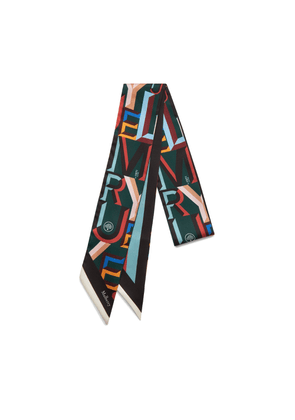 Mulberry Alphabet Bag Scarf in Mulberry Green Polyester
