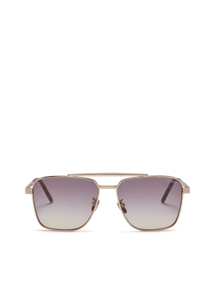 Mulberry Clifton Sunglasses in Rose Gold and Mauve Acetate