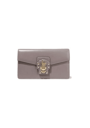 Dolce & Gabbana Lucia Leather Clutch Woman Taupe Size --