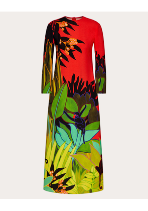 Valentino Printed Cady Dress Women Multicolored Elastane 100% 36