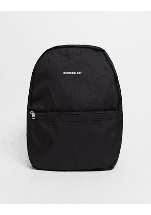 ASOS DESIGN mini backpack in black with embroidery