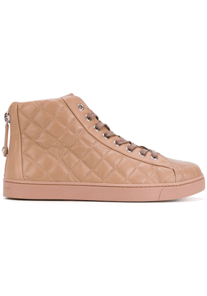 Gianvito Rossi quilted lace-up hi tops - PINK